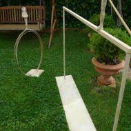 Cerrando el círculo y En equilibrio. Obra de jardín.