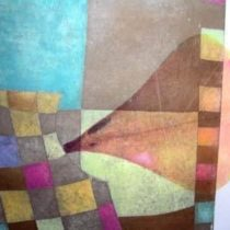 Detalle de grabado de la vendaora de hilos